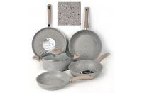 Marble coating non-stick cookware set